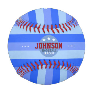 stripes and name personalized bat-and-ball baseball