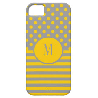 Stripes and Polka Dots Monogram iPhone 5 Case