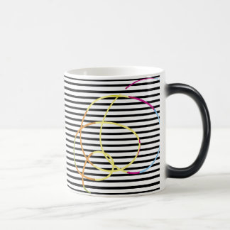 Stripes and scribbles magic mug