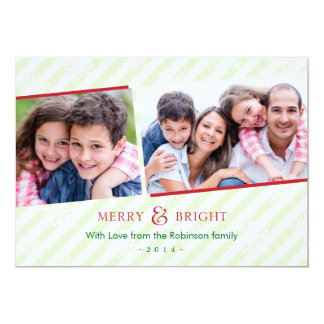 Stripes and Snowflakes Holiday Photo Card