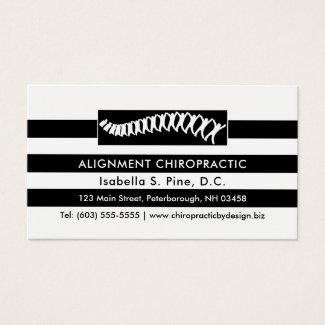 Stripes and Spine Logo Chiropractor Appointment