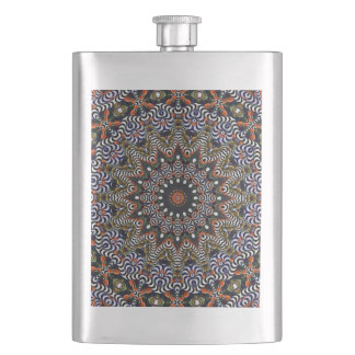 Stripes and Spirals in Circles Flask