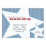 "Stripes and Stars 5"" X 7"" Invitation Card"
