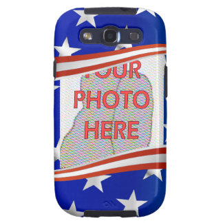 Stripes and stars photo frame template samsung galaxy s3 cases