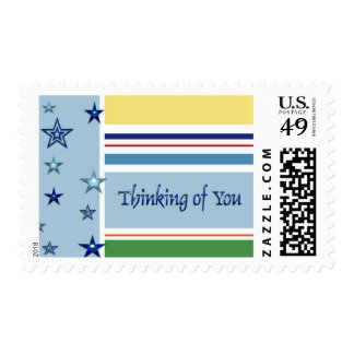 Stripes and Stars Thinking Postage