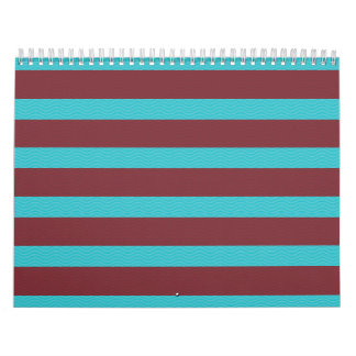 stripes and texture red blue wall calendars