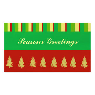 Stripes and Trees Gift Tag Pack Of Standard Business Cards