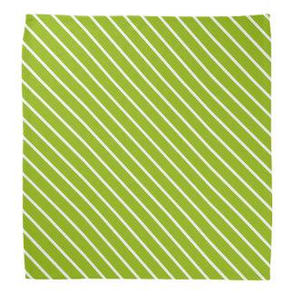 Stripes Apple Green Classy Color Coordinating Bandana