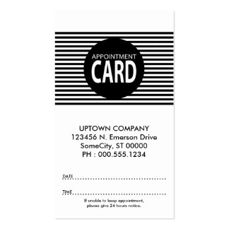 stripes appointment card business card