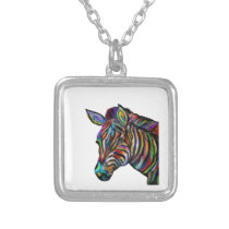 Stripes Away Silver Plated Necklace