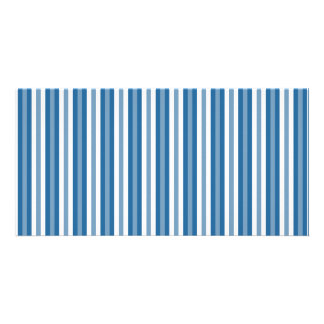 Stripes Background Blue and White Card