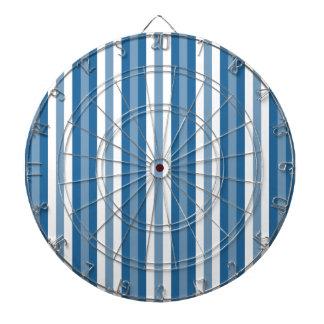 Stripes Background Blue and White Dartboard