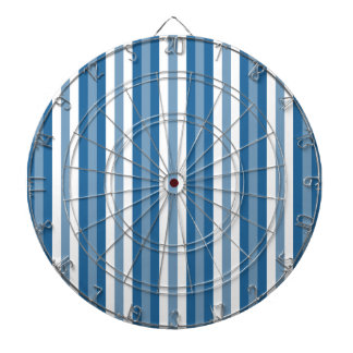 Stripes Background Blue and White Dartboard With Darts