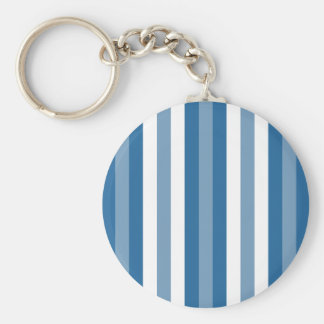 Stripes Background Blue and White Keychain