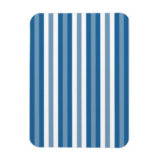 Stripes Background Blue and White Flexible Magnets
