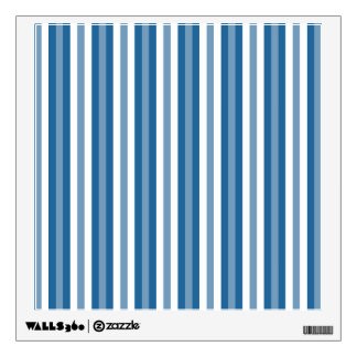 Stripes Background Blue and White Wall Decal