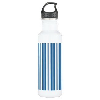 Stripes Background Blue and White Water Bottle