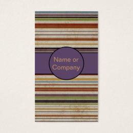 Stripes Backward Business Card