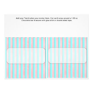 Stripes Birthday Custom Candy Bar Wrappers Personalized Flyer