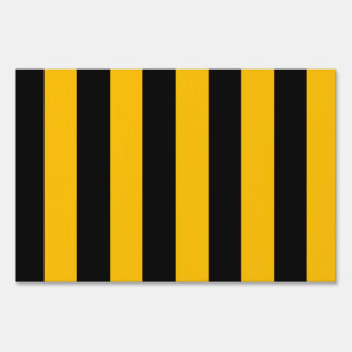 Stripes - Black and Amber Lawn Signs