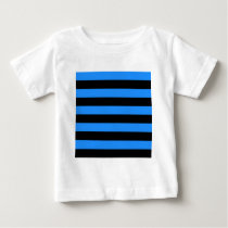 Stripes - Black and Blue Baby T-Shirt