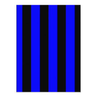 "Stripes - Black and Blue 5.5"" X 7.5"" Invitation Card"