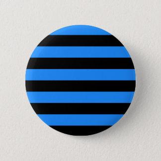 Stripes - Black and Blue Pinback Button