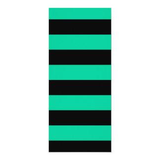 Stripes - Black and Caribbean Green Custom Invites