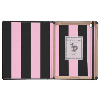 Stripes - Black and Cotton Candy iPad Covers