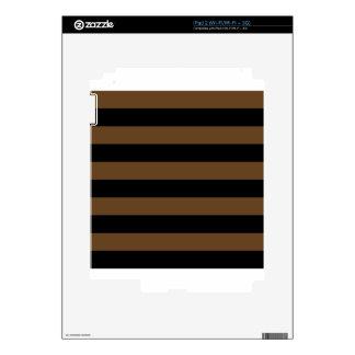 Stripes - Black and Dark Brown iPad 2 Decals