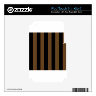 Stripes - Black and Dark Brown iPod Touch 4G Skin