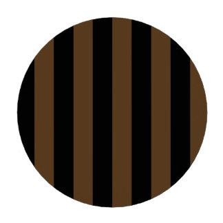 Stripes - Black and Dark Brown Poker Chips
