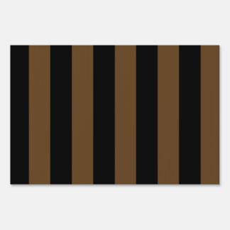 Stripes - Black and Dark Brown Sign
