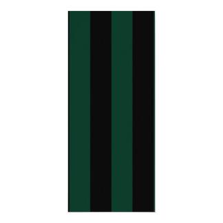 Stripes - Black and Dark Green Personalized Invite
