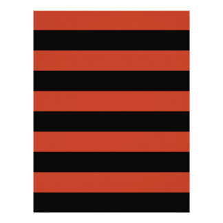 Stripes - Black and Dark Pastel Red Letterhead
