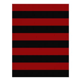 Stripes - Black and Dark Red Letterhead