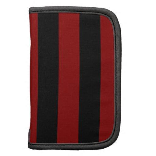 Stripes - Black and Dark Red Organizer