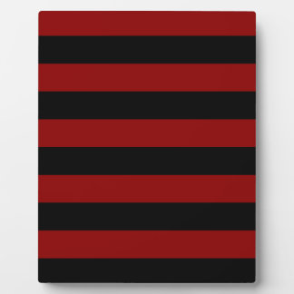 Stripes - Black and Dark Red Plaque