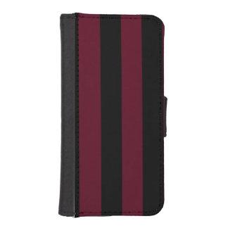 Stripes - Black and Dark Scarlet Phone Wallets