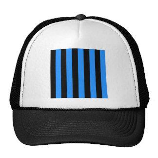 Stripes - Black and Dodger Blue Trucker Hat