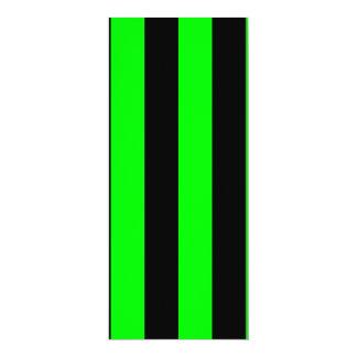Stripes - Black and Electric Green Invitation