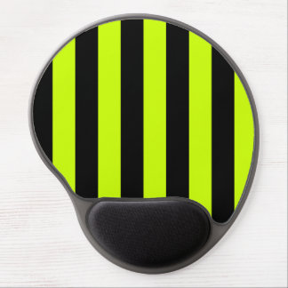 Stripes - Black and Fluorescent Yellow Gel Mouse Pads