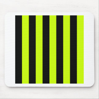 Stripes - Black and Fluorescent Yellow Mouse Pad