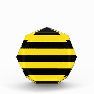 Stripes - Black and Golden Yellow Acrylic Award