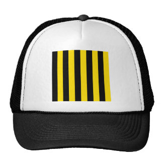 Stripes - Black and Golden Yellow Hats