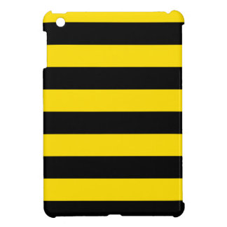 Stripes - Black and Golden Yellow Case For The iPad Mini