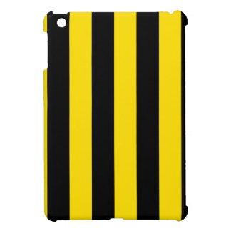 Stripes - Black and Golden Yellow iPad Mini Case