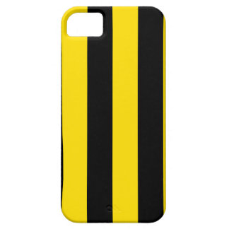 Stripes - Black and Golden Yellow iPhone 5 Cover