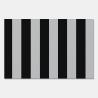 Stripes - Black and Light Gray Sign