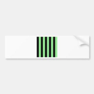 Stripes - Black and Light Green Bumper Sticker
